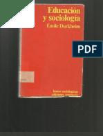 100762578 Educacion y Sociologia Emile Durkheim