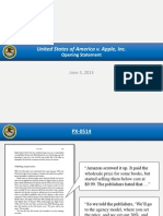 Opening Slides from DOJ in the U.S. v. Apple Et Al