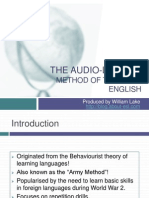 The Audio-Lingual Method of Teaching English