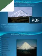 Volcanes y Elevaciones Del Ecuador