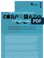 CorpoInvestor privileges in EU-US trade deal threaten public interest and democracyrate Bill of Rights