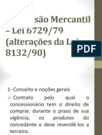 Concess+úo Mercantil ÔÇô Lei 6729-79 - slides