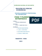 Trabajo de Costos Gerenciales Foda y Planeamiento Estrategico 2