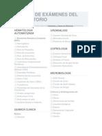 Lista de Exmenes de Laboratorio Metropolitano Leon