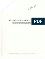 Puppets on a Shoestring - Effects on Municipal Government of Canadas System of Public Finance 1976