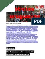 Noticias Uruguayas Lunes 3 de Junio Del 2013