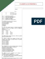 Exercícios de Classificação Periódica