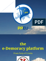 Pirate Party of Croatia - e Democracy platform description, PP-EU meeting, Zagreb 2013