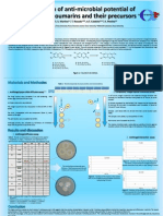 Poster cientifico - Evaluation of anti-microbial potential of 3-ethenylcoumarins and their precursors J. Ramos