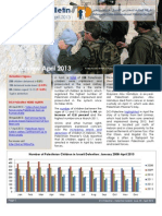 Defence for Children International-Palestine's monthly bulletin on detention -Issue 40 - April 2013