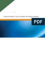 Evaluating Text Analytics 9.2012