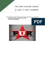 2.- Documento sobre el periodo, apuesta y propuestas para el sector estudiantil.pdf