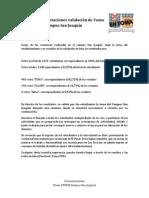 Comunicado Votaciones validación de Toma Campus San Joaquín
