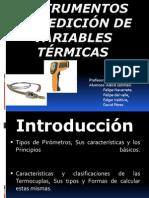 Instrumentos de medición de variables térmicas 1