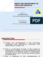 New Risk Assessment and Management in Construction Projectss Project Pres.ceg