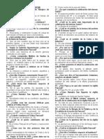 Cuestionario Del Triduo Pascual
