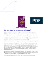 Do You Want to Be Normal or Happy - Robert Betz - Book Summary