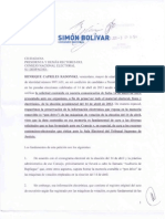 Carta Al Cne - 03 Junio 2013