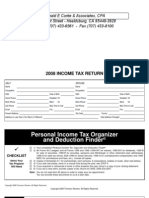 Quick Finder 2008 Tax-Organizer