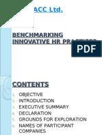 Bench Marking Innovative HR Practices