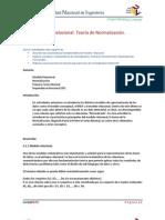 Modelo Relacional - Teoria de Normalizacion