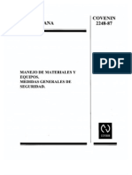 90_COVENIN 2248-1987 Manejo de Materiales y Equipos