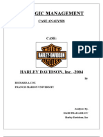 Harley Davidson Strategic Management Changed & New