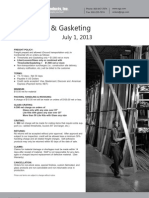 NGP Thresholds & Gasketing July 2013 Price Book