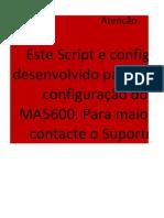 CONFIGUTAÇÃO DE PORTAS MA5600 v2