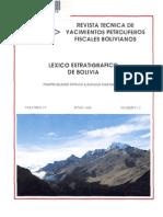 Lexico Estratigráfico YPFB