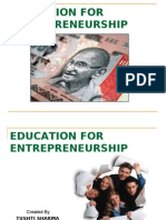 Education for Enterpreneurship Compiled