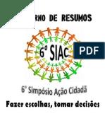 CADERNO DE RESUMOS DO 6º SIAC-2 cópia