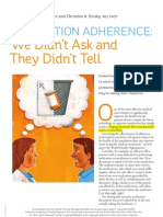 Medication Adherence.we Didn_t Ask and They Didn_t Tell