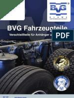 BVG Fahrzeugteile Katalog 2013 Neu