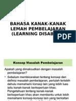 Bahasa Kanak-kanak Lemah Pembelajaran (Learning Disabled)