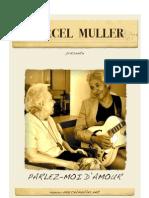 """Plaquette de présentation du spectacle """"Parlez-moi d'amour"""" Marcel Muller"""