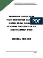II Program. Segregacion Rr.ss Jlbyr.ii