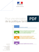 03/06/13 Dossier de Presse - Pour Une Renovation de La Politique Familiale