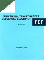 7.7. Slovenian Literary Reader / Slovensko slovstvo - Berilo