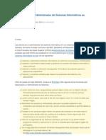 Funciones de un Administrador de Sistemas Informáticos en una