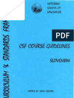 8.8. CSF Course Guidelines Slovenian