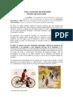 Historia y Evolución de la Bicicleta y  el Automovil