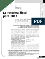 La Reforma Fiscal Para 2013