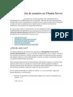 Administración de usuarios en Ubuntu Server