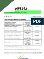 Especificaciones R 134a