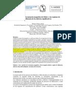 El método de la memoria magnética de Dubov y las regiones de