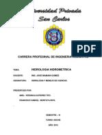 HIDROLOGIA HIDROMETRICA