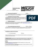 Cronograma y Forma de Pago - Placement 2013