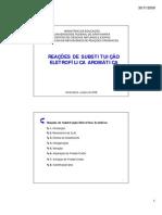 Substituições em Sistemas Aromáticos (impressão) [Modo de Compatibilidade]