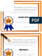 Silly Class Award Certificates EXAMPLE